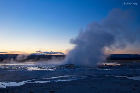 geyser sunset