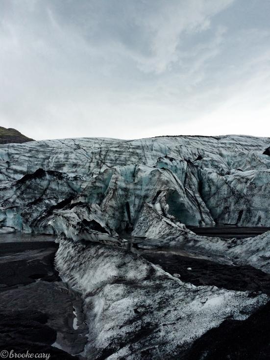 glacier and ash
